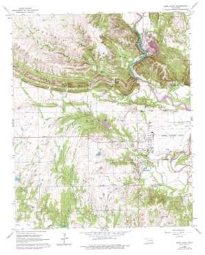 Gene Autry USGS topographic map 34097c1