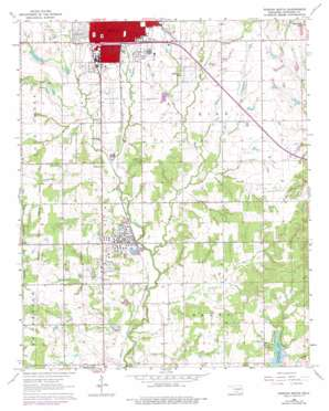 Duncan South topo map
