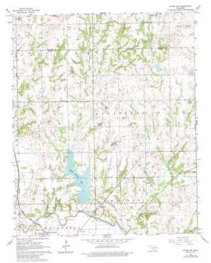 Byars Sw topo map