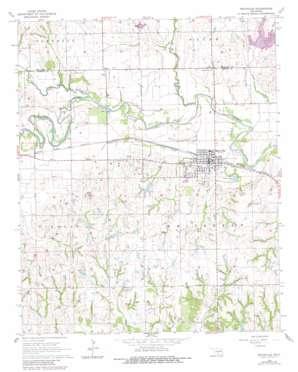 Maysville topo map