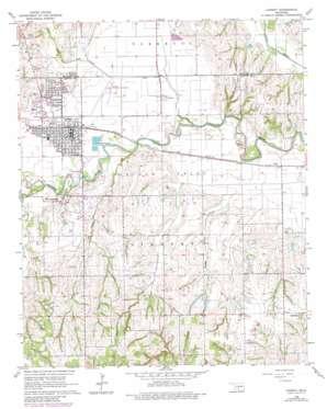 Lindsay topo map