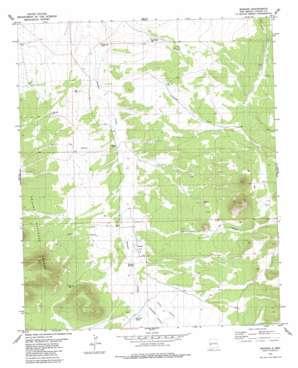 Mangas topo map