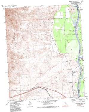 Needles Nw topo map