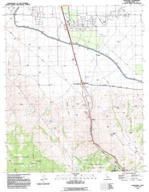 Grapevine topo map