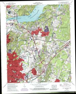 East Chattanooga topo map