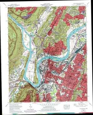 Chattanooga topo map