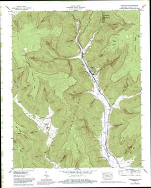 Sinking Cove topo map
