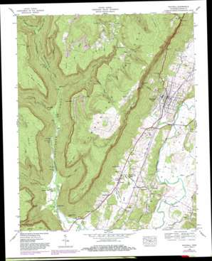 Whitwell topo map