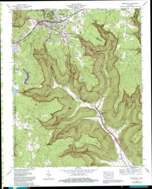 Monteagle topo map