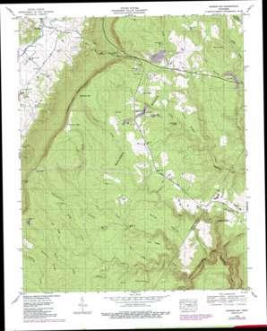 Henson Gap topo map