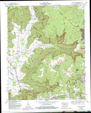 Burrow Cove topo map