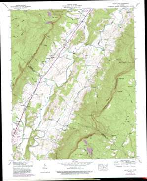 Mount Airy topo map