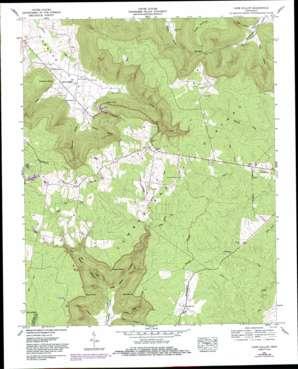 Cane Hollow topo map
