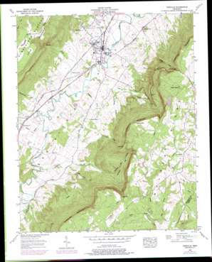 Pikeville topo map
