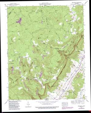 Brockdell topo map