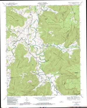 Irving College topo map
