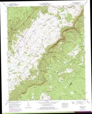 Melvine topo map