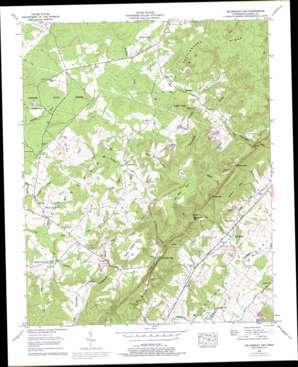 Billingsley Gap topo map