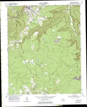 Spencer topo map