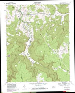 Welchland topo map