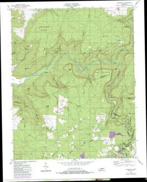 Lonewood topo map
