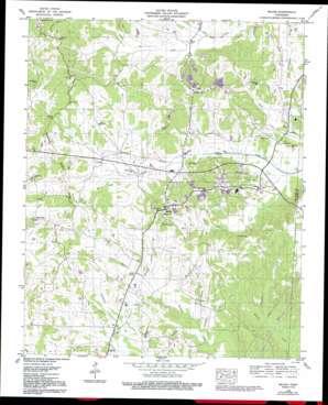Michie topo map