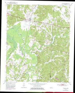 Hornsby topo map