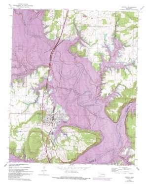 Eufaula Topographic Map OK  USGS Topo Quad 35095c5