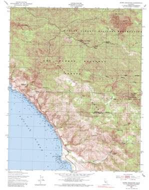 Burro Mountain topo map
