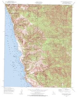 Cape San Martin topo map