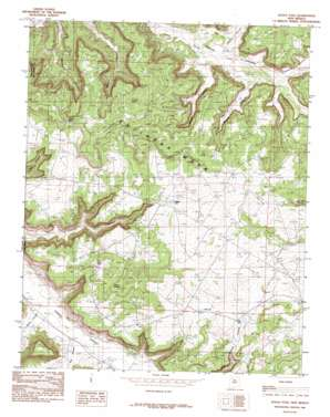 Gould Pass topo map