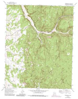 Gobernador topo map