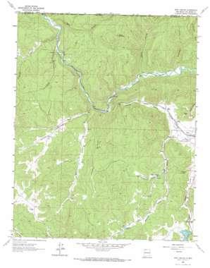 Wirt Canyon topo map