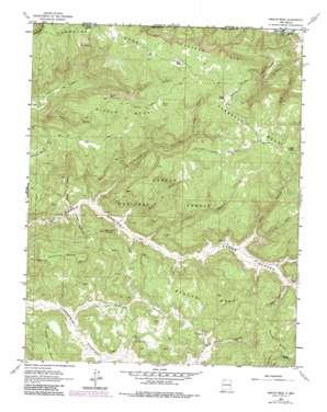 Bancos Mesa topo map