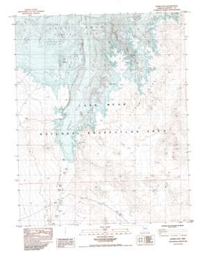 Bonelli Bay Topographic Map AZ  USGS Topo Quad 36114a4