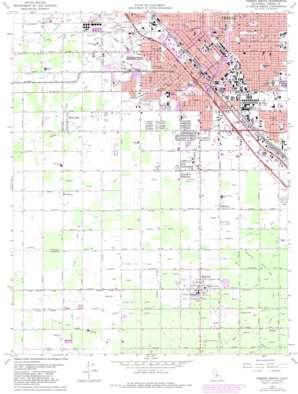 Fresno South topo map
