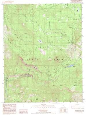 Patterson Mountain topo map