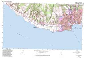 Santa Cruz topo map