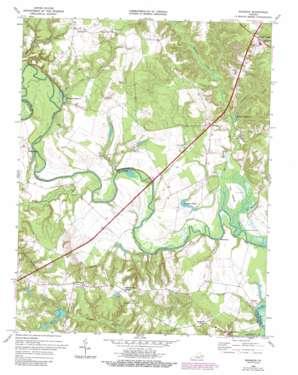 Manquin topo map