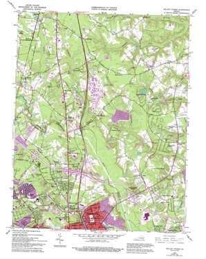 Yellow Tavern topo map