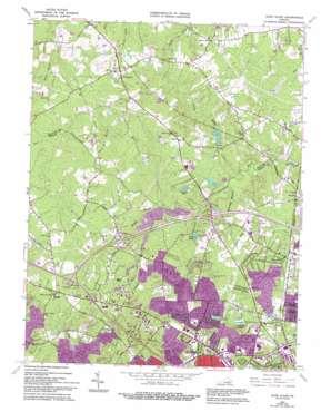 Glen Allen topo map