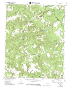 Beulahville topo map