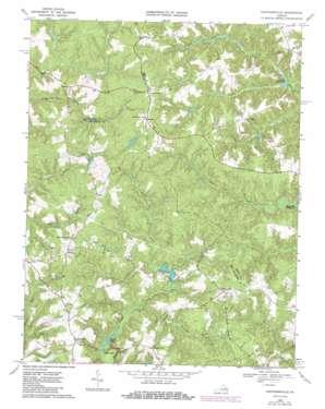 Cauthornville topo map