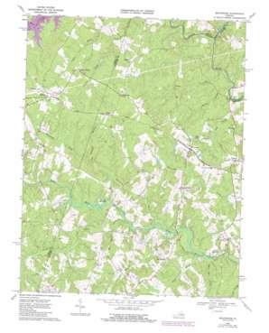 Beaverdam topo map