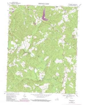 Pendleton topo map