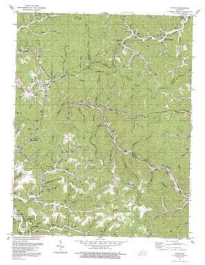 Ivyton topo map