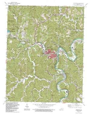 Paintsville topo map
