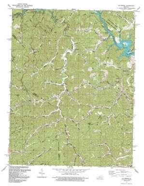Oil Springs topo map