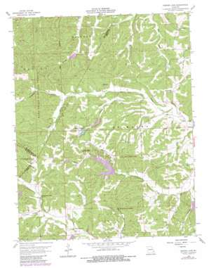 Parker Lake topo map