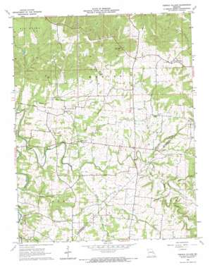 French Village topo map